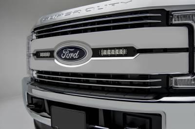 ZROADZ                                             - 2017-2019 Ford Super Duty Lariat, King Ranch OEM Grille LED Kit, Incl. (2) 6 Inch LED Straight Single Row Slim Light Bars - PN #Z415471-KIT - Image 1
