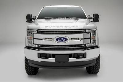 ZROADZ                                             - 2017-2019 Ford Super Duty Lariat, King Ranch OEM Grille LED Kit, Brushed with (2) 6 Inch LED Straight Single Row Slim Light Bars - PN #Z415473-KIT - Image 2