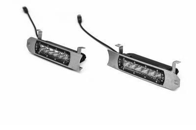 ZROADZ                                             - 2017-2019 Ford Super Duty Lariat, King Ranch OEM Grille LED Kit, Brushed with (2) 6 Inch LED Straight Single Row Slim Light Bars - PN #Z415473-KIT - Image 3