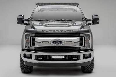 2017-2019 Ford Super Duty XLT OEM Grille LED Kit, Incl. (2) 6 Inch LED Straight Single Row Slim Light Bars - PN #Z415573-KIT - Image 1