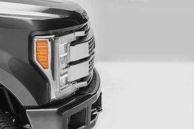 2017-2019 Ford Super Duty Platinum OEM Grille LED Kit, Incl. (2) 10 Inch LED Single Row Slim Light Bars - PN #Z415671-KIT - Image 6
