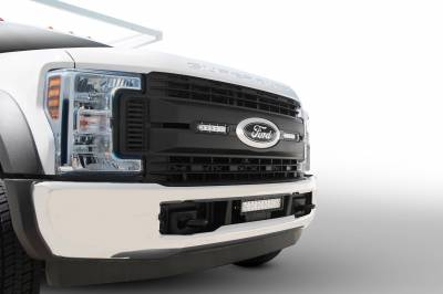 ZROADZ                                             - 2017-2019 Ford Super Duty XL OEM Grille LED Kit with (2) 6 Inch LED Straight Single Row Slim Light Bars - PN #Z415771-KIT - Image 1