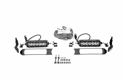 ZROADZ                                             - 2017-2019 Ford Super Duty XL OEM Grille LED Kit with (2) 6 Inch LED Straight Single Row Slim Light Bars - PN #Z415771-KIT - Image 5