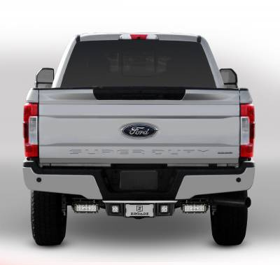 2017-2019 Ford Super Duty Rear Bumper LED Bracket to mount (2) 6 Inch Straight Light Bar - PN #Z385471 - Image 2