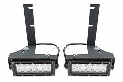 2008-2016 Ford Super Duty Rear Bumper LED Kit, Incl. (2) 6 Inch LED Straight Double Row Light Bars - PN #Z385461-KIT - Image 2
