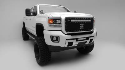 ZROADZ                                             - 2015-2019 GMC Sierra 2500, 3500 Front Bumper Center LED Kit, Incl. (1) 12 Inch LED Straight Double Row Light Bar - PN #Z322111-KIT - Image 3