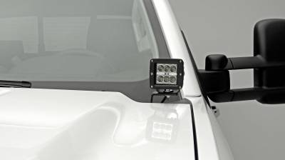 ZROADZ                                             - 2015-2019 Silverado, Sierra 2500, 3500 Hood Hinge LED Bracket to mount (2) 3 Inch LED Pod Lights - PN #Z361221 - Image 3