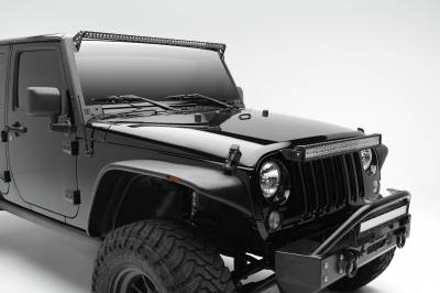 ZROADZ                                             - 2007-2018 Jeep JK OEM Grille LED Kit with (1) 30 Inch LED Straight Double Row Light Bar - PN #Z344821-KIT - Image 3