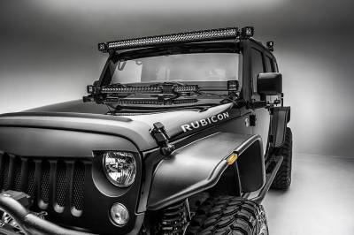 ZROADZ                                             - 2007-2018 Jeep JK Front Roof Side LED Kit, Incl. (2) 3 Inch LED Pod Lights - PN #Z334811-KIT - Image 4
