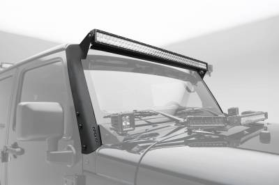 ZROADZ                                             - 2007-2018 Jeep JK Front Roof LED Bracket to mount (1) 50 or 52 Inch Staight LED Light Bar - PN #Z374811 - Image 1