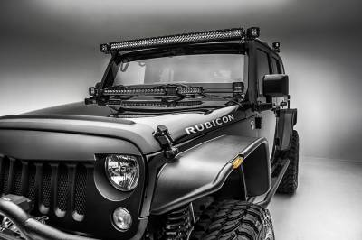 ZROADZ                                             - 2007-2018 Jeep JK Front Roof LED Bracket to mount (1) 50 or 52 Inch Staight LED Light Bar - PN #Z374811 - Image 6