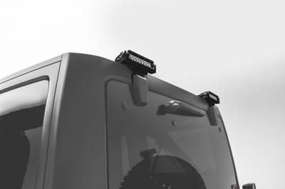 ZROADZ                                             - 2007-2018 Jeep JK Rear Window LED Kit, Incl. (2) 6 Inch LED Straight Single Row Slim Light Bars - PN #Z394812-KIT - Image 1