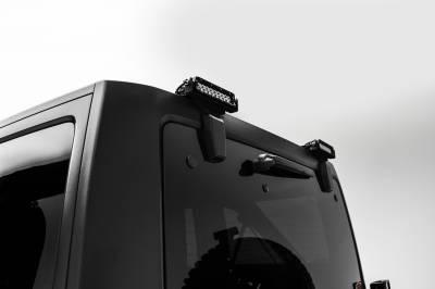 ZROADZ                                             - 2007-2018 Jeep JK Rear Window LED Kit, Incl. (2) 6 Inch LED Straight Single Row Slim Light Bars - PN #Z394812-KIT - Image 2
