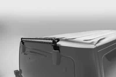 2007-2018 Jeep JK Rear Window LED Kit, Incl. (1) 30 Inch LED Straight Single Row Slim Light Bar - PN #Z394811-KIT - Image 1