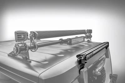 2007-2018 Jeep JK Rear Window LED Kit, Incl. (1) 30 Inch LED Straight Single Row Slim Light Bar - PN #Z394811-KIT - Image 2