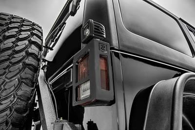 ZROADZ                                             - 2007-2018 Jeep JK Tail Light Protector LED Bracket to mount (2) 3 Inch LED Pod Lights - PN #Z384811 - Image 2