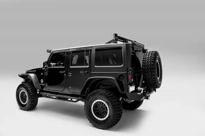 ZROADZ                                             - 2007-2018 Jeep JK Tail Light Protector LED Bracket to mount (2) 3 Inch LED Pod Lights - PN #Z384811 - Image 4