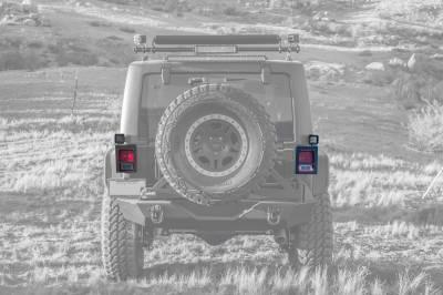 ZROADZ                                             - 2007-2018 Jeep JK Tail Light Protector LED Bracket to mount (2) 3 Inch LED Pod Lights - PN #Z384811 - Image 5