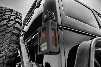 2007-2018 Jeep JK Tail Light Protector LED Kit, Incl. (2) 3 Inch LED Pod Lights - PN #Z384811-KIT - Image 2