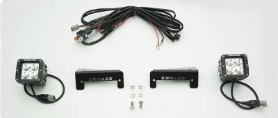 2007-2018 Jeep JK Tail Light Top LED Kit, Incl. (2) 3 Inch LED Pod Lights - PN #Z384812-KIT - Image 2