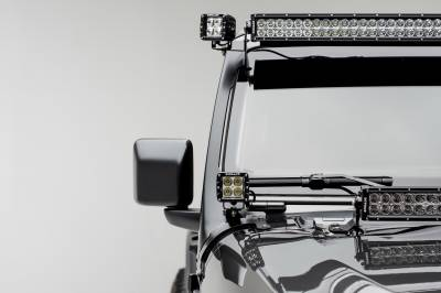 ZROADZ                                             - Jeep JL, Gladiator Front Roof Side LED Bracket to mount (2) 3 Inch LED Pod Lights - PN #Z334851 - Image 2