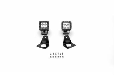 ZROADZ                                             - Jeep JL, Gladiator Front Roof Side LED Kit with (2) 3 Inch LED Pod Lights - PN #Z334851-KIT2 - Image 4