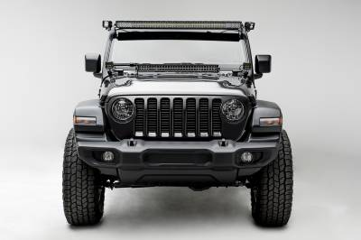 2018-2019 Jeep JL Front Roof LED Bracket to mount (1) 50 or 52 Inch Staight LED Light Bar and (2) 3 Inch LED Pod Lights - PN #Z374831-BK2 - Image 9