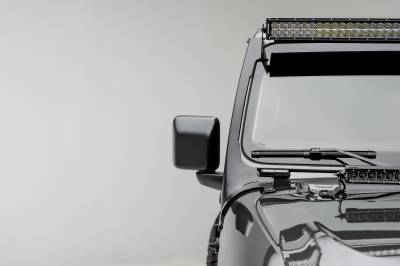 ZROADZ                                             - Jeep JL, Gladiator Front Roof LED Kit with 50 Inch LED Straight Double Row Light Bar - PN #Z374831-KIT - Image 3