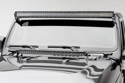 ZROADZ                                             - Jeep JL, Gladiator Front Roof LED Kit with 50 Inch LED Straight Double Row Light Bar - PN #Z374831-KIT - Image 2