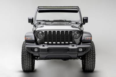 ZROADZ                                             - Jeep JL, Gladiator Front Roof LED Kit with 50 Inch LED Straight Double Row Light Bar - PN #Z374831-KIT - Image 4