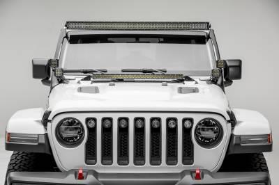 ZROADZ                                             - Jeep JL, Gladiator Hood Cowl LED Bracket to mount 30 Inch Singe Row Slim LED Light Bar - PN #Z364931 - Image 3