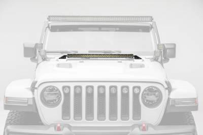 ZROADZ                                             - Jeep JL, Gladiator Hood Cowl LED Bracket to mount 30 Inch Singe Row Slim LED Light Bar - PN #Z364931 - Image 4