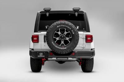 ZROADZ                                             - 2018-2021 Jeep JL Rear Tire Carrier LED Bracket to mount (2) 3 Inch LED Pod Lights - PN #Z394951 - Image 2