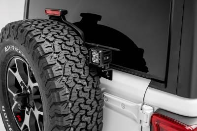 ZROADZ                                             - 2018-2021 Jeep JL Rear Tire Carrier LED Bracket to mount (2) 3 Inch LED Pod Lights - PN #Z394951 - Image 4