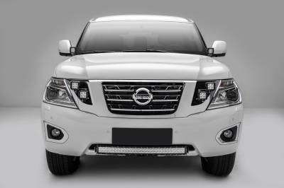 ZROADZ                                             - 2010-2017 Nissan Patrol Y62 Front Bumper Center LED Kit, Incl. (1) 30 Inch LED Curved Double Row Light Bar - PN #Z327871-KIT - Image 7