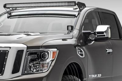 ZROADZ                                             - 2016-2019 Nissan Titan Front Roof LED Bracket to mount (1) 50 Inch Curved LED Light Bar - PN #Z337581 - Image 1