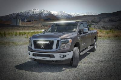 ZROADZ                                             - 2016-2019 Nissan Titan Front Roof LED Kit, Incl. (1) 50 Inch LED Curved Double Row Light Bar - PN #Z337581-KIT-C - Image 4