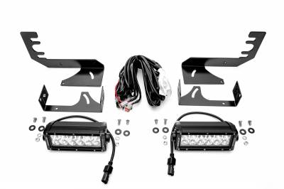 2019 Ram 1500 Rear Bumper LED Kit, Incl. (2) 6 Inch LED Straight Double Row Light Bars - PN #Z384721-KIT - Image 2
