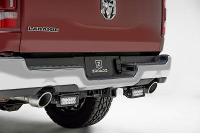 2019 Ram 1500 Rear Bumper LED Kit, Incl. (2) 6 Inch LED Straight Double Row Light Bars - PN #Z384721-KIT - Image 3