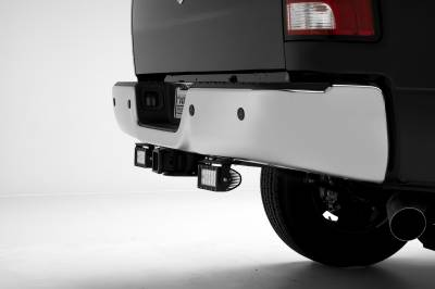 ZROADZ                                             - Ram Rear Bumper LED Kit, Incl. (2) 6 Inch LED Straight Double Row Light Bars - PN #Z384521-KIT - Image 1