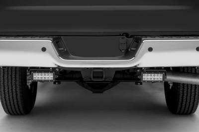 Ram Rear Bumper LED Kit, Incl. (2) 6 Inch LED Straight Double Row Light Bars - PN #Z384521-KIT - Image 2