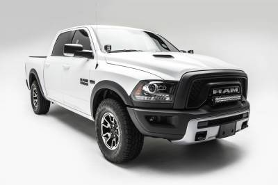 2015-2018 Ram Rebel Front Bumper Top LED Kit, Incl. (1) 20 Inch LED Straight Double Row Light Bar - PN #Z324552-KIT - Image 4