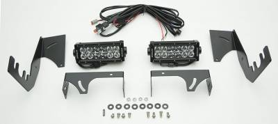 2015-2018 Ram Rebel Rear Bumper LED Kit, Incl. (2) 6 Inch LED Straight Double Row Light Bars - PN #Z384551-KIT - Image 4