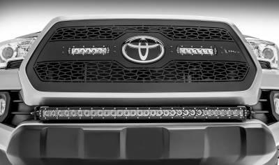 2018-2019 Toyota Tacoma Front Bumper Center LED Kit, Incl. (1) 30 Inch LED Straight Single Row Slim Light Bar - PN #Z329511-KIT-S - Image 5