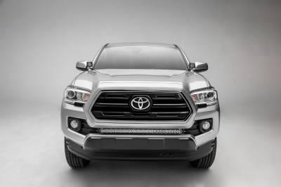 2018-2019 Toyota Tacoma Front Bumper Center LED Kit, Incl. (1) 30 Inch LED Straight Single Row Slim Light Bar - PN #Z329511-KIT-S - Image 6