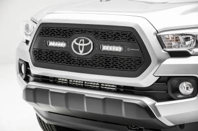2018-2019 Toyota Tacoma Front Bumper Center LED Kit, Incl. (1) 20 Inch LED Straight Single Row Slim Light Bar - PN #Z329512-KIT - Image 5