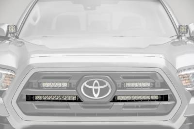 ZROADZ                                             - 2018-2019 Toyota Tacoma OEM Grille LED Kit with (2) 10 Inch LED Single Row Slim Light Bars - PN #Z419611-KIT - Image 3