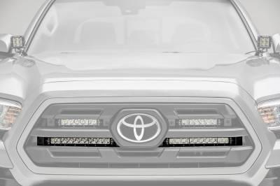 ZROADZ                                             - 2018-2019 Toyota Tacoma OEM Grille LED Kit, Incl. (2) 10 Inch LED Single Row Slim Light Bars - PN #Z419611-KIT - Image 1