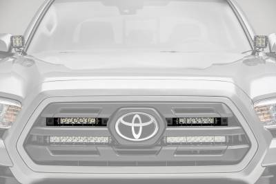 ZROADZ                                             - 2018-2019 Toyota Tacoma OEM Grille LED Kit, Incl. (2) 6 Inch LED Straight Single Row Slim Light Bars - PN #Z419511-KIT - Image 1