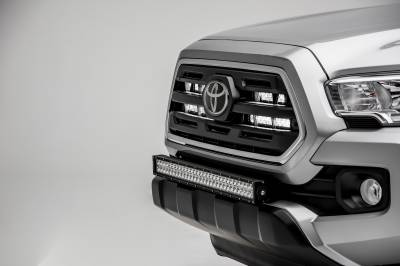 ZROADZ                                             - 2018-2019 Toyota Tacoma OEM Grille LED Kit, Incl. (2) 6 Inch LED Straight Single Row Slim Light Bars - PN #Z419511-KIT - Image 5